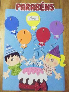 Cartaz escolar Aniversário