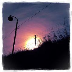 丘の上の太陽