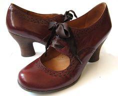 Naya 7.5 NAYA Jada Burgundy Leather 40's Style Mary Jane Pumps *EXCELLENT* 7.5 #naya #MaryJanes