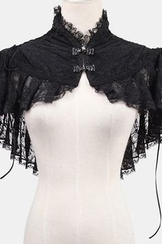 Black lace bolero with lacing elegant aristocrat Punk Rave > JAPAN ATTITUDE - Shop : www. Mode Steampunk, Steampunk Costume, Steampunk Fashion, Gothic Steampunk, Victorian Gothic, Style Lolita, Lolita Mode, Gothic Mode, Gothic Lolita