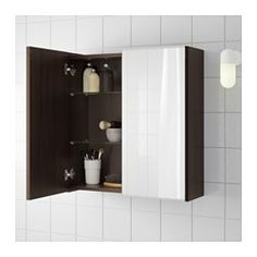 IKEA - LILLÅNGEN, Mirror cabinet with 2 doors, white, , The mirror comes with safety film on the back, which reduces the risk of injury if the glass is broken.
