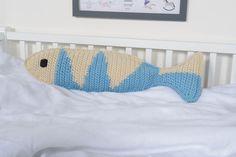Fisch (82cm) - eine Seite hellblau, andere Seite dunkelblau