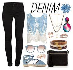 """Denim!!!"" by pecolajones ❤ liked on Polyvore featuring Aquazzura, J Brand, Sans Souci, Ettika, Oasis, Chico's, Michael Kors, Lola Rose, Studio 1735 and Missoni"
