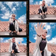 Model Poses Photography, Cloud Wallpaper, Kodak Film, Casual Hijab Outfit, Ootd Fashion, Photo Editing, Photoshoot, Selfie, Painting