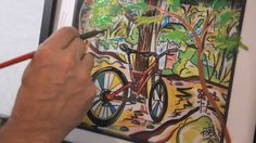 Youtube art videos on pinterest acrylic paintings for Bicycle painting near me