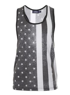 Black and White Use Flag Vest