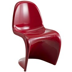 """S"" Style Red Chair 