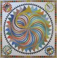 Mosaic - but could be transformed into a stained glass panel! Tile Art, Mosaic Art, Mosaic Glass, Mosaic Tiles, Stained Glass, Glass Art, Mosaic Crafts, Mosaic Projects, Mosaic Designs