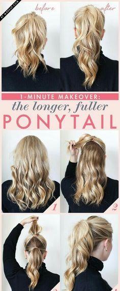 Fuller Ponytail Tips ✨