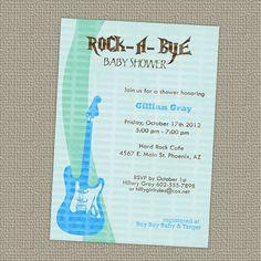 Rock a bye baby boy shower invitation with by freshlysqueezedcards, $13.00
