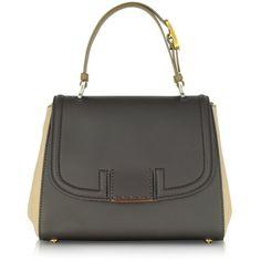 Fendi Colorblock Silvana Leather Satchel ($2,300) ❤ liked on Polyvore
