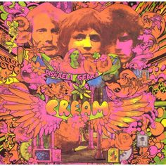 The psychedelic cover art for Cream's album Disraeli Gears in 1967 was created by Australian artist Martin Sharp, who lived in the same building as Eric Clapton. Greatest Album Covers, Rock Album Covers, Classic Album Covers, Music Album Covers, Jimi Hendrix, The Smashing Pumpkins, The Velvet Underground, Underground Garage, Michael Jackson Bad