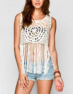 FULL TILT Sweater Knit #Fringe Tank. Perfect for #Coachella