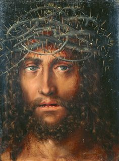 Lucas Cranach d. Ä. - Head of Christ Crowned with Thorns