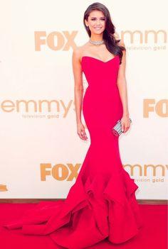 Nina dobrev . She looks gorgeous.