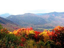 During autumn, the leaves on many hardwood trees in New Hampshire turn colors, attracting many tourists