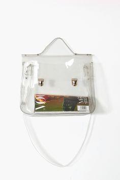 Glastonbury Festival Fashion Inspiration. clear plastic see through bag, satchel. Spring 2013 Eye Candy Tote
