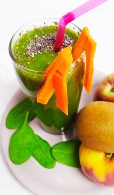 FRESH DE SPANAC CU KIWI Kiwi, Cantaloupe, Smoothie, Watermelon, Fresh, Food, Essen, Smoothies, Meals