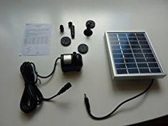 Anself BSV-SP002A - Bomba de Agua de Panel de Energía Solar para Piscina Jardín Fuentes (9V , 2W): Amazon.es: Hogar