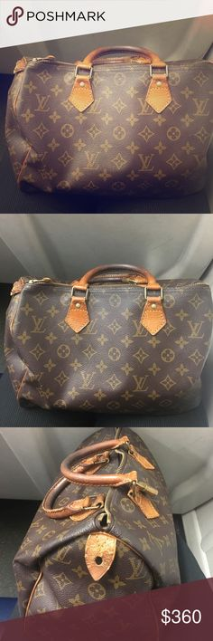 Louis Vuitton Speedy 30 Authentic Louis Vuitton Speedy 30 - classic bag with a lot of life. Please see photos for condition and tags. Comes with lock and key, also the piece of the end tag which tore (in case new owner wants to fix). Open to trade items for a Neverfull. Please no low balling 🙂. Can do 🅿️ 🅿️. Louis Vuitton Bags