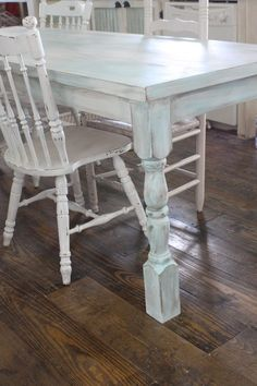 DIY Shabby chic farmhouse table- For Mom and Dad's table they will give us