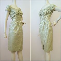 50s 60s Dress Vintage Draped Bustline Sarong Skirt by voguevintage, $185.00