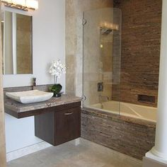 Floating Cabinets, Contemporary, bathroom