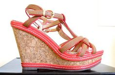 Tangerine and tan wedges from Ever New