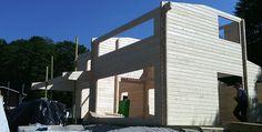 Der Holzhaus Aufbau geht weiter