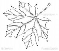 Big Autumn Maple Leaf Printable Adult Color Page.. Fall Season Fun!