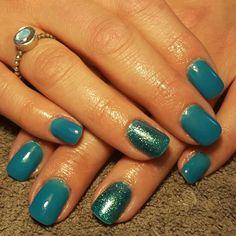 Nails green mermaid