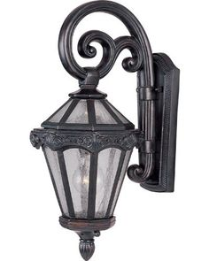 Maxim Lighting 40253CDOB Essex Vivex 1-Light Outdoor 17.5-Inch Wall Mount, Top Mount, Oriental Bronze Finish with Seeded Glass by Maxim Lighting. $122.13. From the Manufacturer                The Maxim Lighting 40253CDOB Essex VX Collection 1-Light Outdoor Wall Mount brings to mind a historic English township proper with its classic design of spiral scrolls and leaves. This vintage design features a rich oriental bronze finish and opaque seedy glass to obscure ...