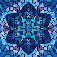 Image Detail for - Stained Glass Six Pointed Star In Shades Of Blue.