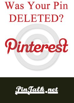 READ WHY PINTEREST DELETED ONE OF MY PINS by Michelle G. Held, June 19, 2013.  For those who are concerned that Pinterest might delete a pin, a board, or even your whole account, try a free backup from pin4ever.com - we've saved over 18 million pins so far!