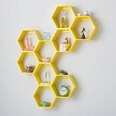 Honeycomb Wall Shelf (Yellow) | The Land of Nod