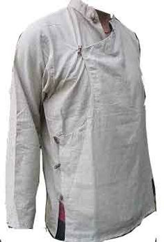 Tibetan men Linen shirt by LittleLilbienen on Etsy, $60.00