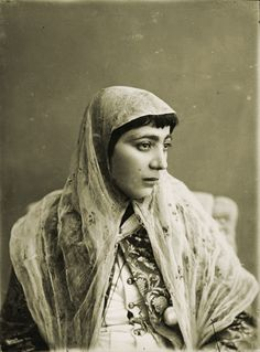 Vintage Photo by Antoin Sevruguin - Iranian woman