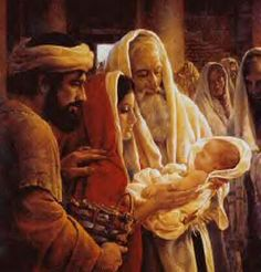 Sts. Anna and Simeon saw Jesus and knew that He was the Messiah.  (1st week in Advent)