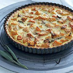 Roast buttenut quiche | Woolworths.co.za Kos, Cream Cheese Pastry, Breakfast Specials, Good Food, Yummy Food, Savory Tart, Roasted Butternut, Vegetarian Recipes, Vegetarian Roast