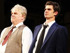 Philip Seymour Hoffman and Andrew Garfield of DEATH OF A SALESMAN