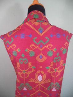 Kain Batik Motif Pink Coklat Muda Batik Cap tradisional handmade, bahan katun, ukuran: 1,15 x 2m