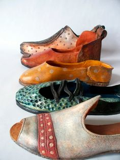 marie gibbons  - ceramic shoes