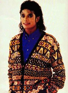 Only Michael could look good in a sweater like this!