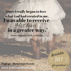 #bgb40 #bravegirlboots  - Need a dose of brave? Check out our 40 day women's devotional - coming soon!