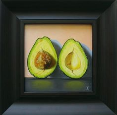 "Daily Paintworks - ""Avocado #17"" - Original Fine Art for Sale - © Jean-Pierre Walter"