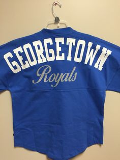 Back of the Georgetown royals billboard shirt