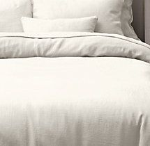 Stonewashed Belgian Linen Tipped Duvet Cover