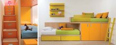 Bedroom storage with colour by Dear Kids