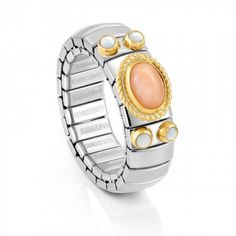 Stretch Ring with Semiprecious OvalStone - Nomination Italy #nominationitaly #ring #extension