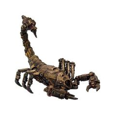 Steampunk Mechanical Giant Scorpion Robotic Machinery Gearwork... ❤ liked on Polyvore featuring home, home decor y steampunk home decor